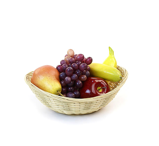 Bamboo Bowl Oval Basket 11 inch