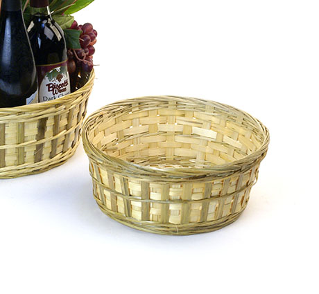 Bamboo Bowl Natural 10 inch