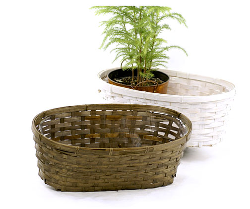 Bamboo Double Planter15 inch - Click Image to Close