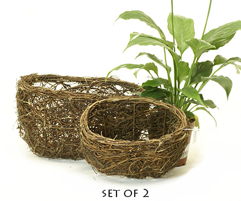 Wild Vine Oval Bowl Set of 2