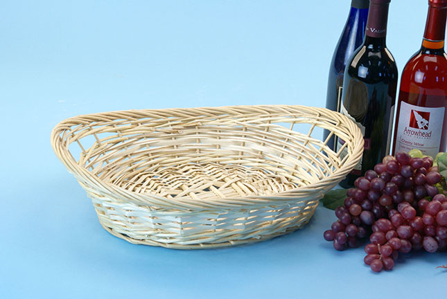 Two-Tone Willow Oval for Gift, fruit, gourmet packing