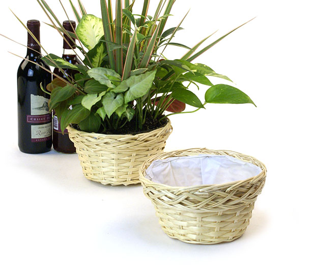 Round Natural Willow Bowl 8 inch