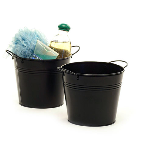 Tin Pot 6.5 inch Black