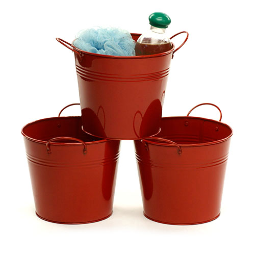 Tin Pot 6.5 inch Red