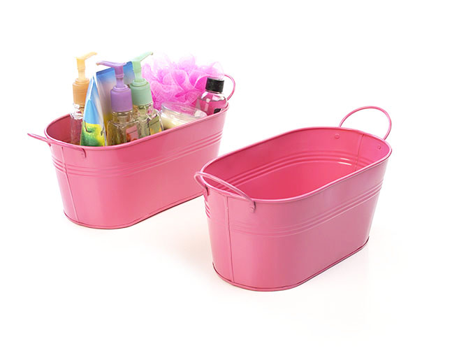 Galvanized Oval Tub 12 inch Pink
