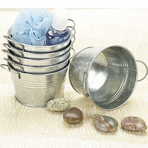 5 inch Mini Round Tub Galvanized