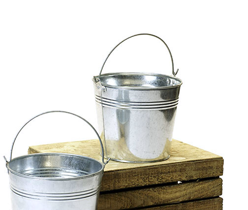 Round Pail Galvanized 7 inch - Click Image to Close