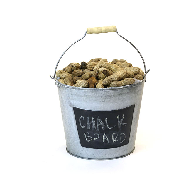 Round Pail Galvanized 7 inch Vintage Finish with Chalkboard