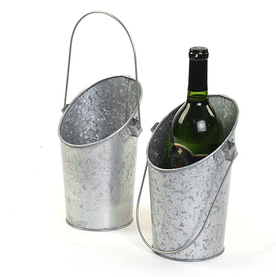 Acid Wash Galvanized Wall pocket Pail