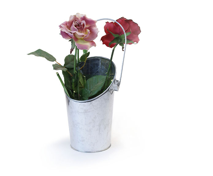 Galvanized Wall Pocket Pail