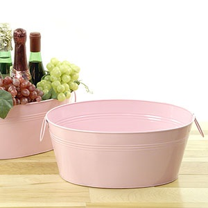 Oval Tub Pink 14 inch
