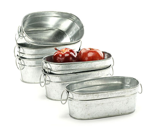 Oval Small Tub Galvanized 8 inch