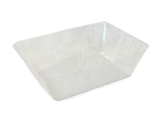 13 inch Rectange Hard Plastic Liner For Fresh Floral Arrangement