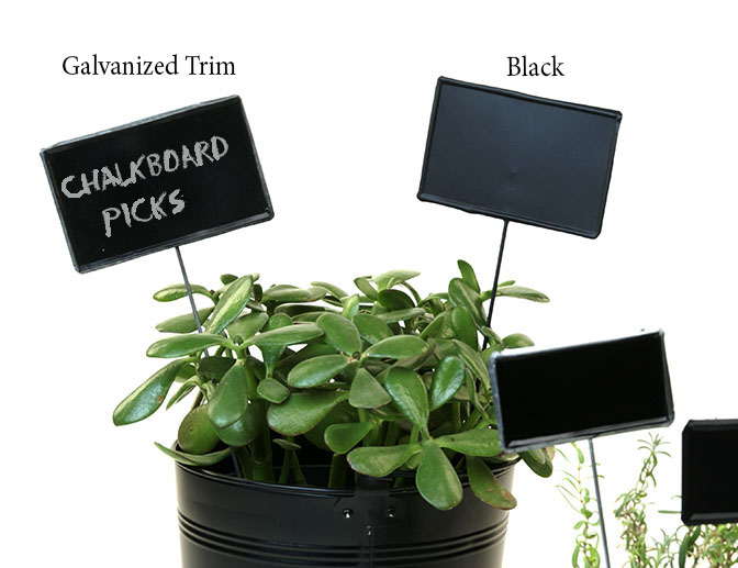 Tin Chalkboard Pick Painted Black 12""