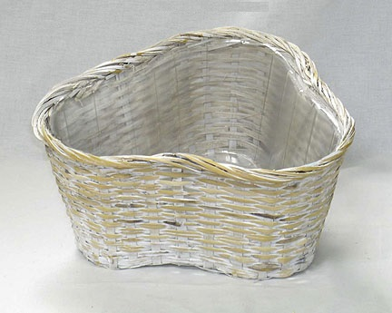 Bamboo Triangular Pot White