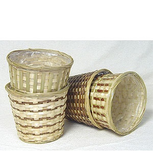Bamboo Pot cover with sewn in liner 7 inch