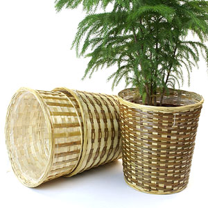 Bamboo Pot cover with sewn in liner 12 inch