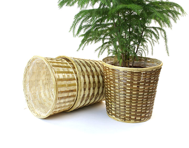 Bamboo Pot cover with sewn in liner 9 inch