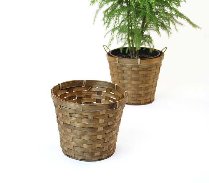 Bamboo Pot Cover for 6 inch pots