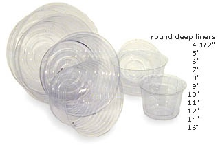 8 inch Round Hard Plastic Liner For Fresh Floral Arrangements