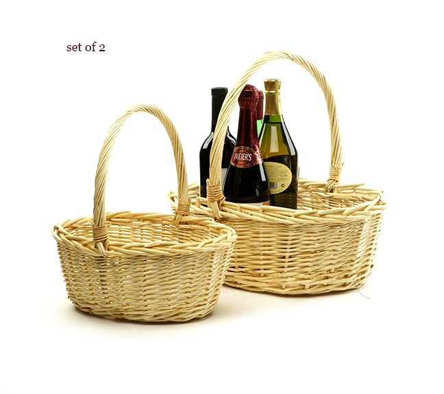 Willow Oval Shop Basket Set of 2