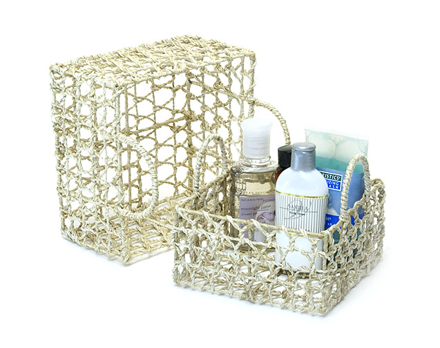 Twine Abacca Knitted Open Weave Tray set of 2