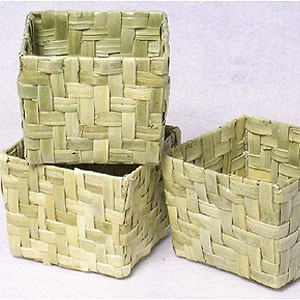 Palm Leaf Square Basket 5 inch