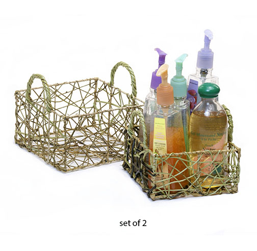Nito Vine Square Basket Set of 2