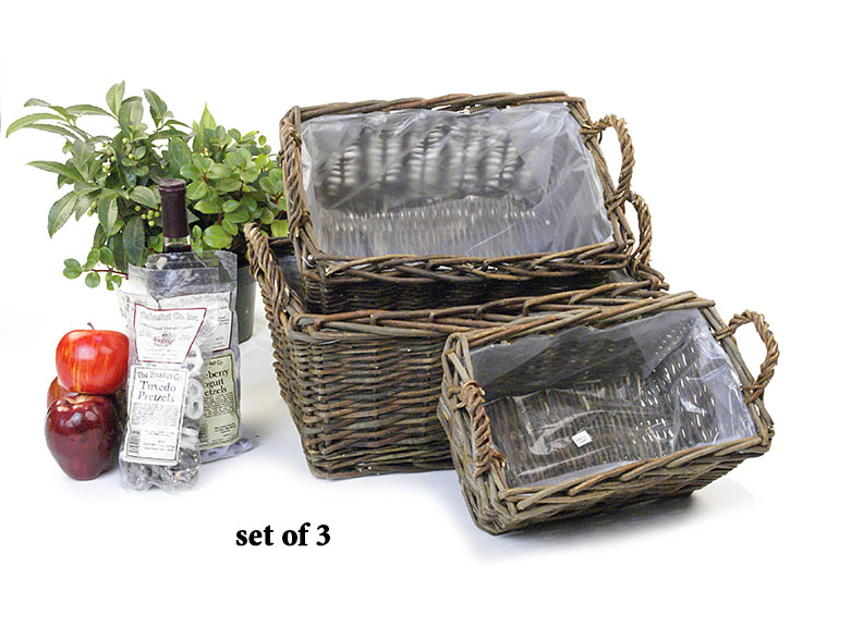 Willow Rectangle Basket Set of 3