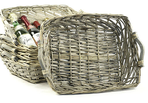 Rectangle Willow Tray Gray Wash
