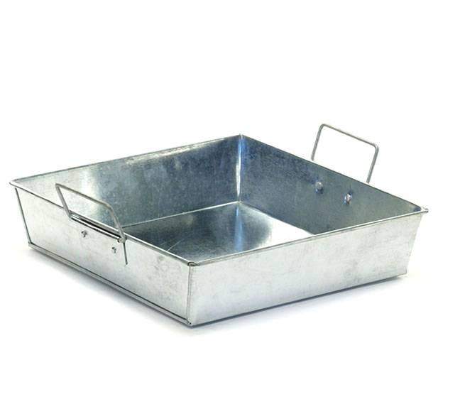 Galvanized Tray Square 9 inch