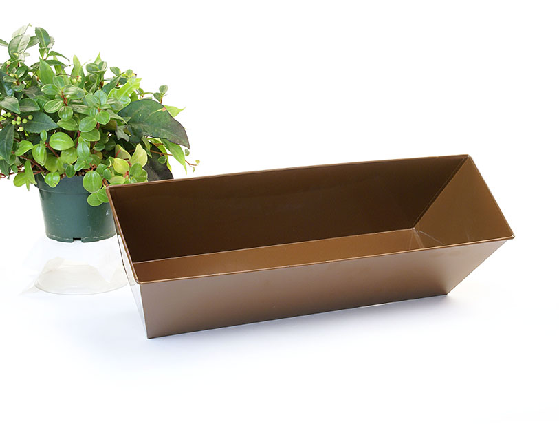 Rectangle Window Box Galvanized 23 inch Brown Powder coated