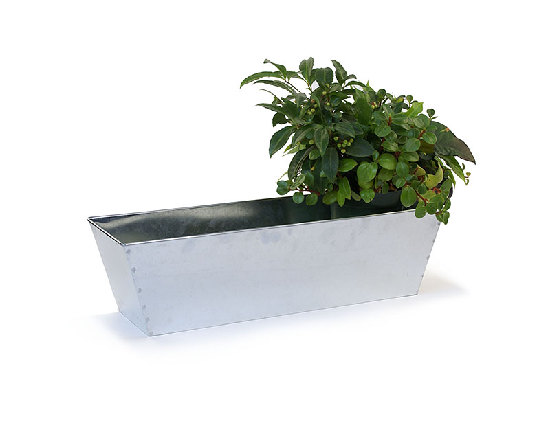 Rectangle Window Box Galvanized 23 inch