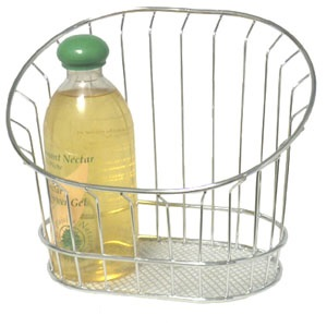 Chrome Wire Wall Basket 9 inch