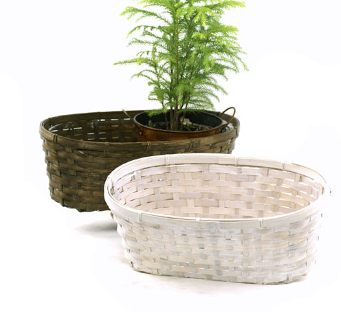 Bamboo Double Planter15 inch