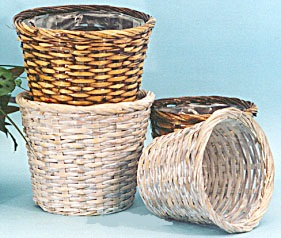 Stained Rattan Pot Cover for 10 inch pots
